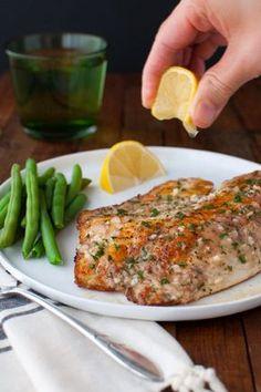 Sautéed Tilapia with Garlic Herb Butter Sauce   tamingofthespoon.com