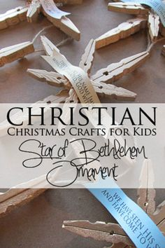 "Christian Christmas Crafts for Kids: The Star of Bethlehem Ornament  I've done this one too with adults...but could be a great one for children's ministry this year. Also a ""mindless"" craft with a good message"