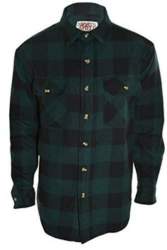 - True 8oz 100% Cotton - Classic Buffalo Plaid Print - Rugged but Comfortable - High Quality Flannel Shirt - Machine Wash For the ultimate outdoorsman. The high quality of this 8oz heavy flannel shirt