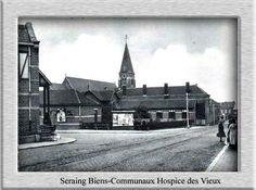 La rue plainevaux avec l église de lize saint Joseph (place merlot)en contrebas et l hospice a gauche