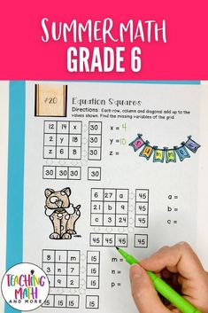 Are your students ready for Summer? Send home this fun Summer Math Packet Project with your kids. Students will engage in math puzzles, printables, and worksheets to keep up their math skills for middle school math. Perfect for grades 6 to 7. Grab your Summer Math Activities today! 6th Grade Math Problems, Sixth Grade Math, Problem Solving Activities, Math Activities, Maths Puzzles, Math Worksheets, Math Skills, Math Lessons, Math Lesson Plans