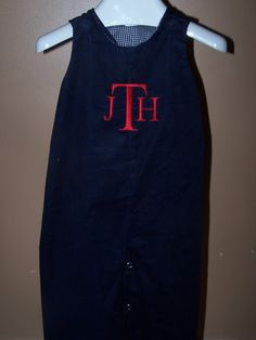 Custom Boys CORDUROY Longall Monogrammed by theroyalprincess, $29.99-- Great for a Christmas outfit!