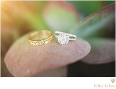 wedding rings taken by To Live. To Love. Photography
