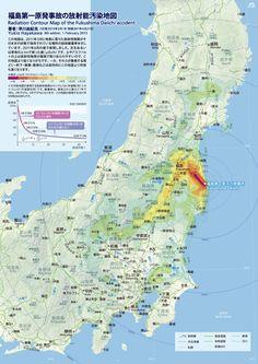 radiation contour map of the fukushima daiichi accident  No Nukes !