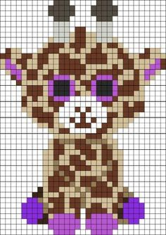 DIY this Superduper Cute Baby Giraffe Perler Hama Beads Pattern / Bead Sprite from Kandi Patterns. Also.....perfect for Cross Stitching! by Nikole0814