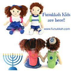 Funukkah dolls for Hanukkah.  www.funukkah.com