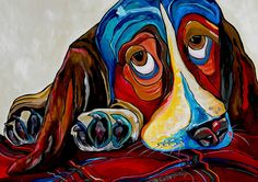 Bassett Has The Blues Painting Has The t