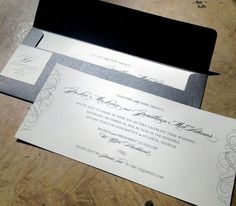 Elegant Metallic Wedding Invitation / Single by papercakedesigns, $2.25