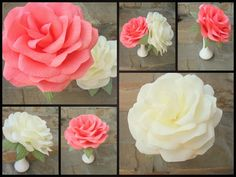 Giant Paper Flower/Giant Paper Rose/Wedding от LandofFlowers