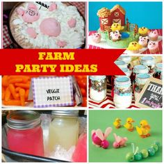 Need farm party ideas for your upcoming boy or girl birthday? Check out this post! | catchmyparty.com