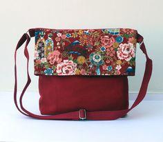 Bolsos de hombro - Bolso Jardín en Rojo - La Mujer del Saco - hecho a mano por LoLahn-Handmade en DaWanda
