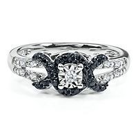 1/8 ct. tw. Black & White Diamond Promise Ring in Sterling Silver... okay i need this.
