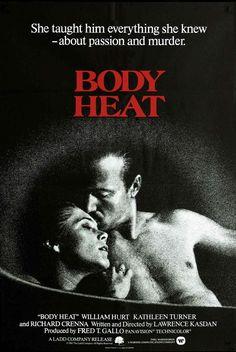 Body Heat (1981) USA Warner Thriller D/Sc: Laurence Kasdan. starring William Hurt & Kathleen Turner, Richard Crenna, Ted Danson. 04/11/07