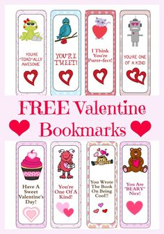 FREE PRINTABLE Valentine's Day Bookmarks