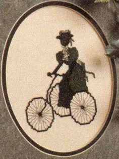 Bicycle Ride Victorian Silhouette (for future sewing room) :) <3