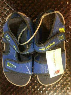 24743919aeb NEW BALANCE Kids sandals size 3K M New with tag GRAY BLUE  fashion  clothing
