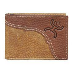 (TD1457161W5) Hooey Signature Brown & Chocolate Bi-Fold Wallet