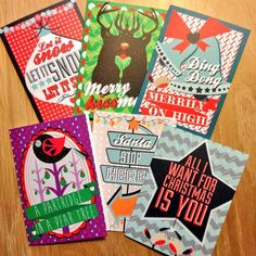 Christmas cards designed by Flock & Roll.