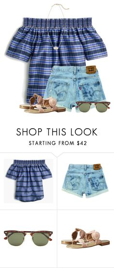 """And another week..."" by flroasburn ❤ liked on Polyvore featuring J.Crew, Ray-Ban, Jack Rogers and Kendra Scott"