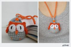 Adjustable Owl Necklace and Bookmark 2 in 1  Childrens by Etilinki