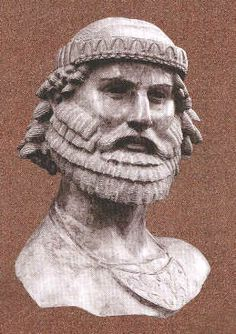"""Assyrian Staues in Museums: Nimrod """"Mighty hunter before the lord"""" Genesis. Biblical King,,Nimrob was,according to the Book of Genesis and the Books of Chronicles,the son of Cush and great-grandson of Noah."""