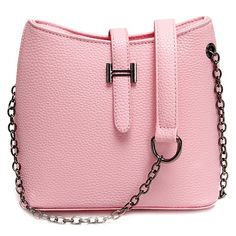 $8.17 Stylish Women's Crossbody Bag With Chain and Solid Colour Design