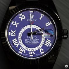 Black_Rolex_DLC_Bamford_Watch_Department_Asprey_Skydweller_Explorer_Submariner_Deepsea_0016 Black Rolex, Sky Dweller, Oyster Perpetual, Fashion Watches, Omega Watch, Jewellery, Men, Jewels, Schmuck