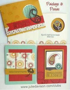 Julie's Stamping Spot -- Stampin' Up! Project Ideas by Julie Davison: Crazy Crafters Blog Hop: Designer Paper Panel Card