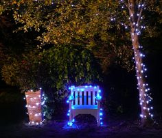 Solar Fairy Lights Around Outdoor Furniture Looks Fantastic Garden
