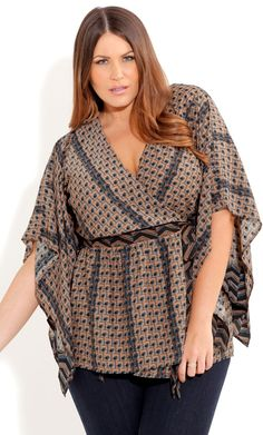 Plus Size Woodstock Top - City Chic - City Chic