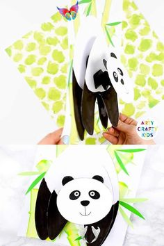 Bobble Head Panda Craft for Kids Fun, engaging and super cute Paper Panda Craft for Kids to make! it's bobble head and 3D features lets this panda POP from the page. The craft idea comes with a printable template that can be used at home or within the classroom - perfect for animal topic and exploring habitats.  The craft also includes an art tutorial for creating bamboo, using an easy art technique that kids will love!<br> Easy 3D Bobble Head Panda Craft for Kids to make. A fun and engaging… Bee Crafts For Kids, Animal Crafts For Kids, Toddler Crafts, Summer Crafts, Sheep Crafts, Frog Crafts, Easter Crafts, Christmas Crafts, Pet Rocks Craft
