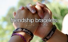 <3 Friendship is a powerful thing. So make a friendship bracelet to show that friend that they're a special friend.
