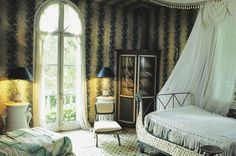 Madeleine Castaing's winter bedroom at Maison de Leves