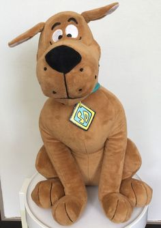 "Scooby Doo Hanna Barbera Plush Dog Large 40cm 16""  Sitting Toy EUC in Toys, Hobbies, Character Toys 