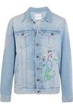 Mira Mikati - Candy Embroidered Embellished Denim Jacket - Light denim - FR