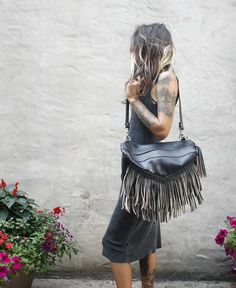 Bird Trouble Melissa Convertible Leather Backpack & Shoulder Bag in 1. Handcrafted in Chicago IL.