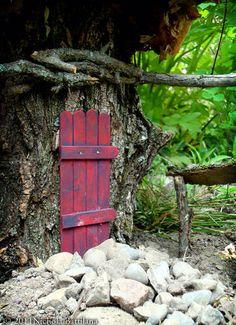 Fairy door from lolly sticks