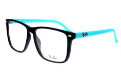 Ray Ban Clubmaster RB2428 Sunglasses Blue/Black Frame Transparent Lens AGM