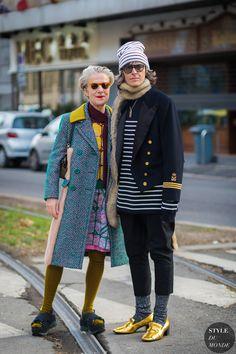 Milan Men's FW 2017 Street Style: Ana Gimeno Brugada and Bettina Oldenburg