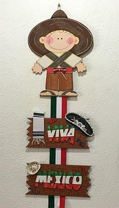 15 de Septiembre - Colgante de Mexicanito para decorar en fiestas patrias #country #fiestaspatrias # 15Septiembre