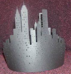 DIY New York skyline centerpiece by hilemanhouse on Etsy