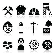 Illustration of hammer - 44882155 - Coal mine, miner icons set. Industry vector icons set – coal, mine on white , - Orca Tattoo, Hamsa Tattoo, Mining Logo, Chinese Dragon Tattoos, Coal Miners, Industry Logo, Illustration, Vector Free, Vector Icons