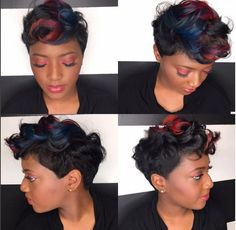 A Touch Of Color Everywhere! With @msklarie 1 - http://community.blackhairinformation.com/hairstyle-gallery/short-haircuts/a-touch-of-color-everywhere-with-msklarie-1/