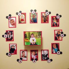 Mickey Mouse First Year Party Wall Display on Etsy, $22.00
