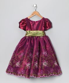 Cinderella Couture Berry Floral Dress - Toddler & Girls