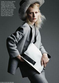 Julia Nobis by Patrick Demarchelier for Vogue UK
