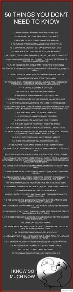 Some of these are not true, but wich ones?