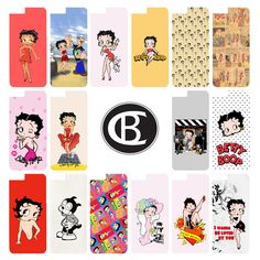Retro Vintage Betty Boop Animated Cartoon Case Cover iPhone 4 4s 5 5s 6 6Plus