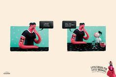 Cacau Bar - Little doses for little dramas. Agency:Lew'Lara\TBWA, São Paulo, Brazil Creative Directors:Juliano Ribas, Silvio Medeiros Art Directors:Alessandro Trimarco, Guilherme Manzi Copywriter:Caio Camargo Illustration:Guilherme Manzi 3D Illustration:Malagueta