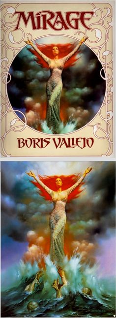 BORIS VALLEJO - Wedding Gown - Mirage by Boris & Doris Vallego - 1982 Del Rey / Ballantine - cover by isfdb - print by fantasy.art.passion.free.fr/